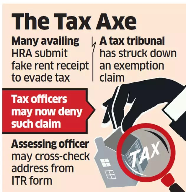 Fake rent receipt won't help you lower tax burden anymore