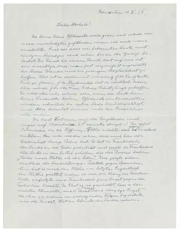 Albert Einstein's letter warning about Adolf Hitler before