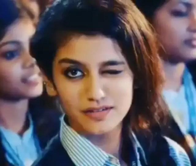 When Malayalam Actress Priya Prakash Varriers Wink Video Became The Most Popular Meme