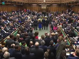 Image result for British parliament vote in favour of Brexit
