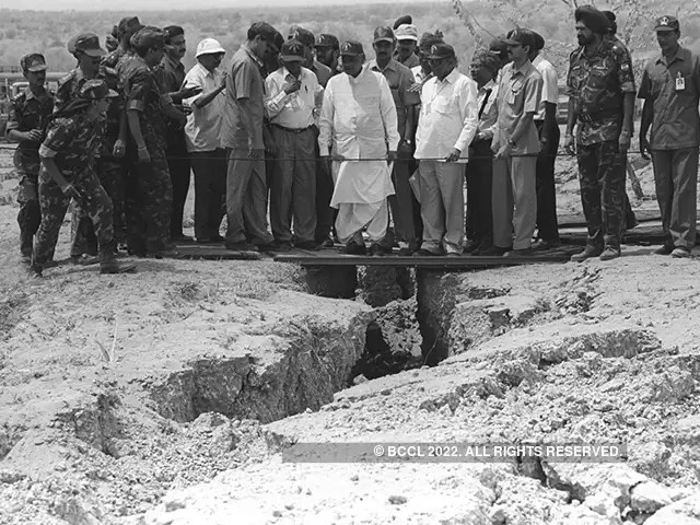 India completes 45 years since its first nuclear test in pokhran in 1945