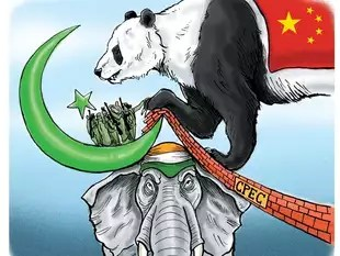 Image result for indian cartoons on OBOR