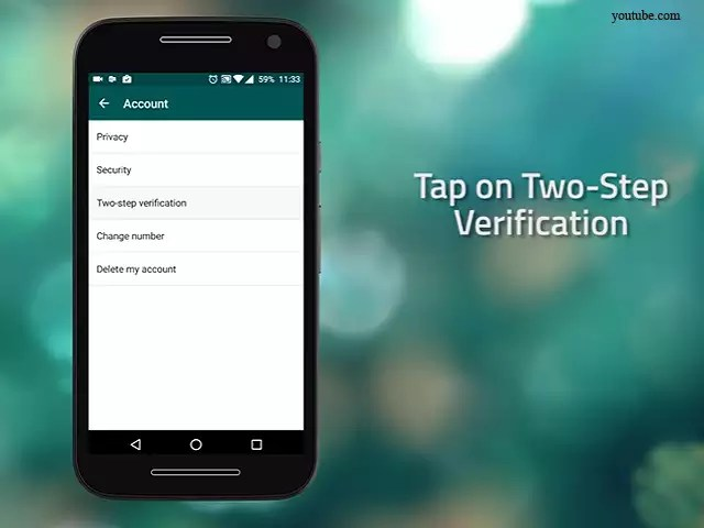 Two-step authentication feature