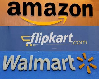Image result for walmart vs amazon over flipkart