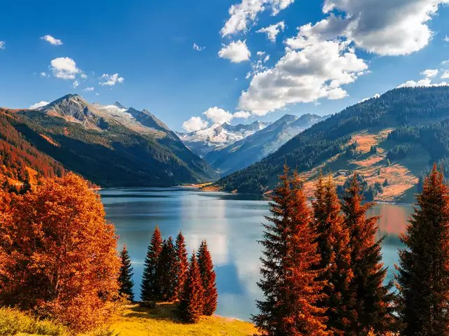Fall Foliage Computer Wallpaper Hiking Bonfires Trekking Switzerland Is Your Go To