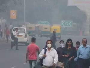 in air pollution choking