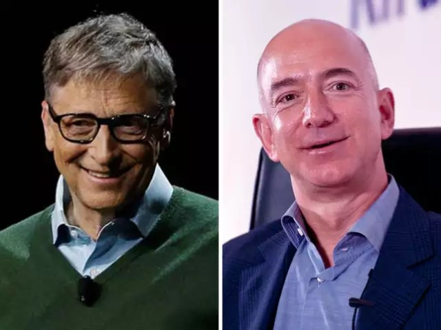 Image result for bill gates and jeff bezos""