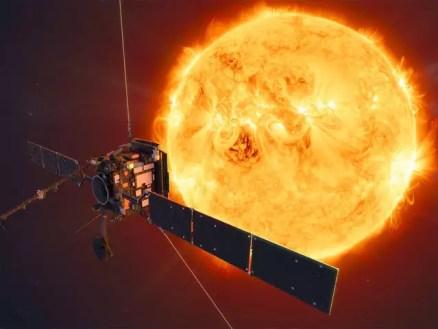 Image result for सोलर ऑर्बिटर ने सूर्य के ध्रुवों पर पहली नजर डालने के लिए ऐतिहासिक मिशन पर विस्फोट किया