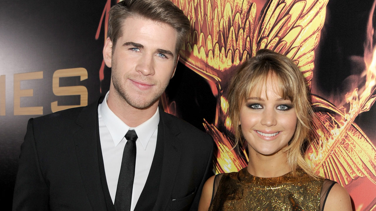 Image result for liam hemsworth and jennifer lawrence