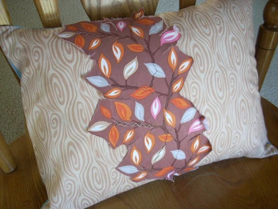 leaves in serenade pillow - FREE SHIPPING