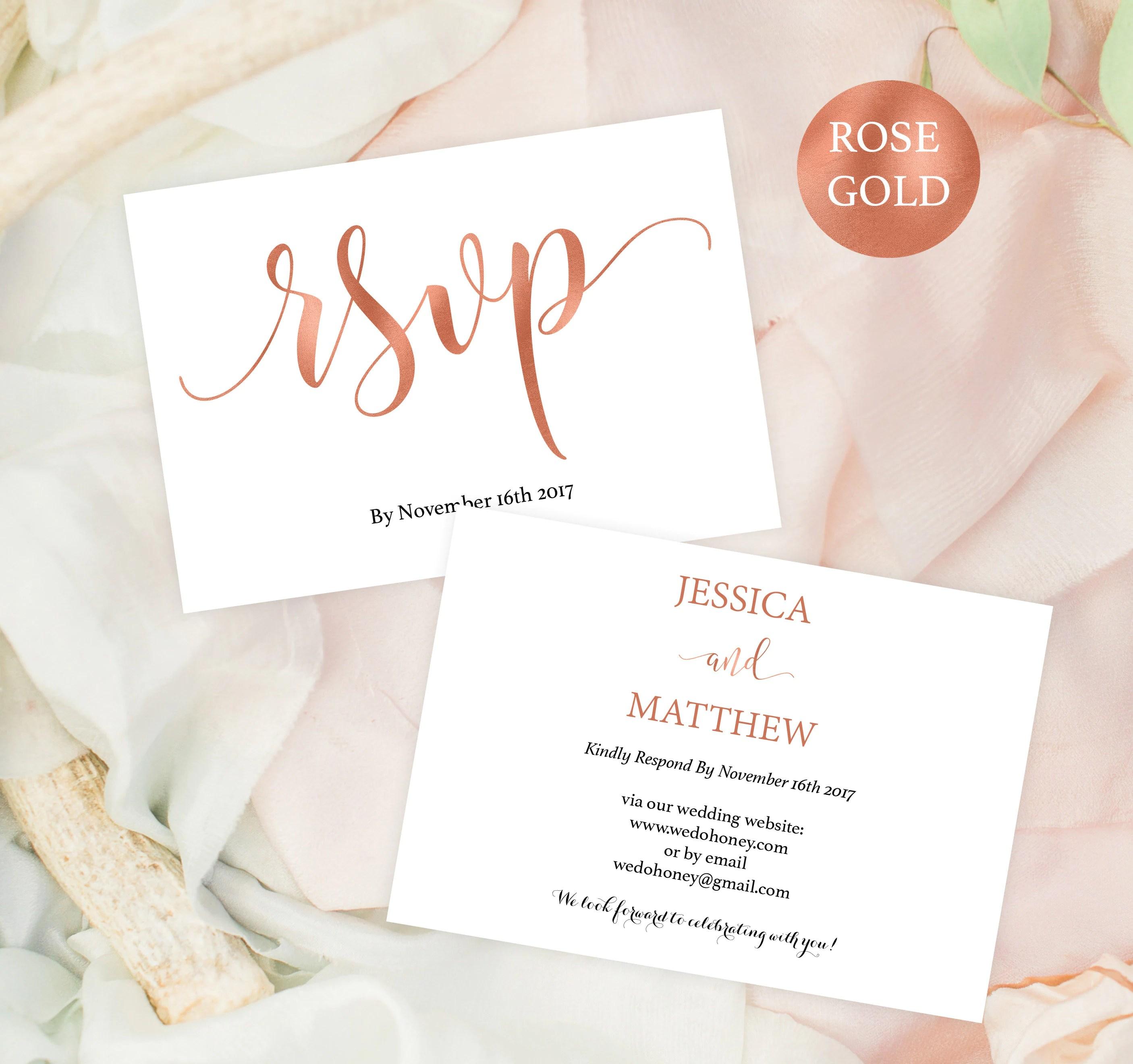Wedding Rsvp Postcard Template Online Rose Online