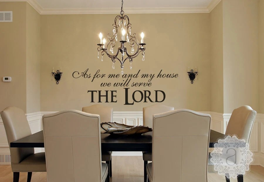 Christian Wall Decal As For Me And My House We Will Serve
