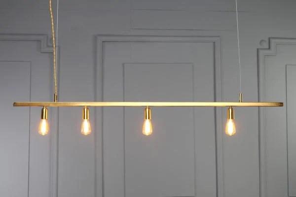 DIANA gold copper tube pendant light minimal geometric modern