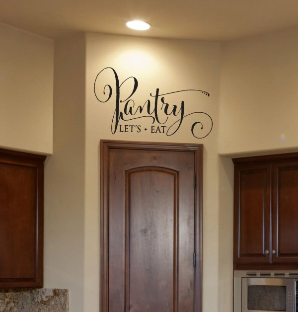 Kitchen Decor Pantry Decal Sign Wall