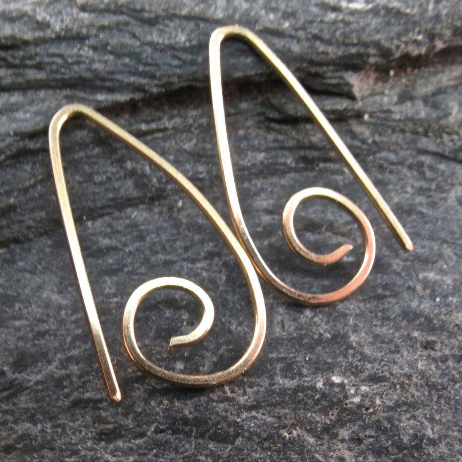14k Gold Hoop Earrings . Goldfilled Small Sleeper Ear Wire