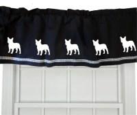French Bulldog Frenchie Dog Window Valance Curtain Your