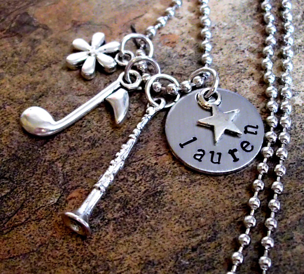 Clarinet Jewelry Personalized Music Necklace