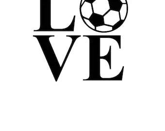 Download Love soccer | Etsy