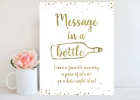 Wedding Guest Book Sign Message in a bottle anniversary