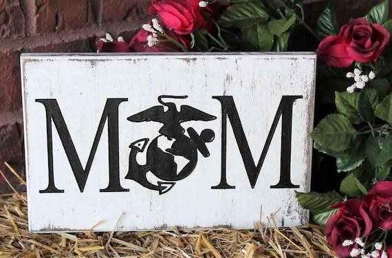 Military Mom Gifts Usmc Mom Marine Corps Mom Wood Sign