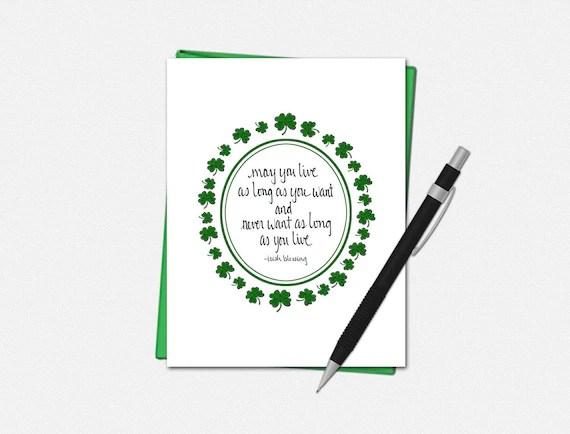 Irish Blessing - St Patricks Day Card