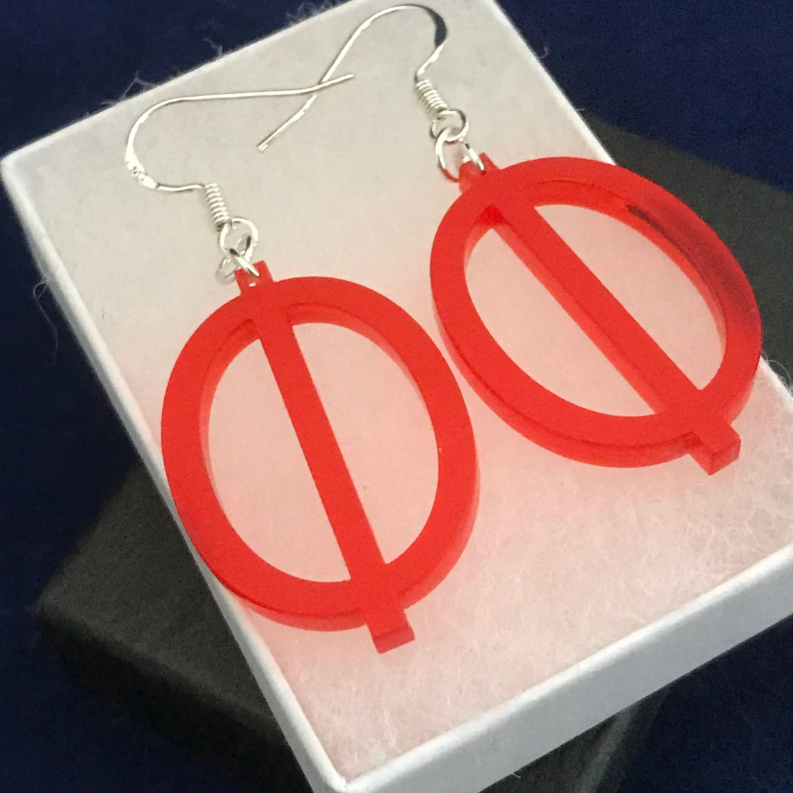 Pair of Red Acrylic Phi D...