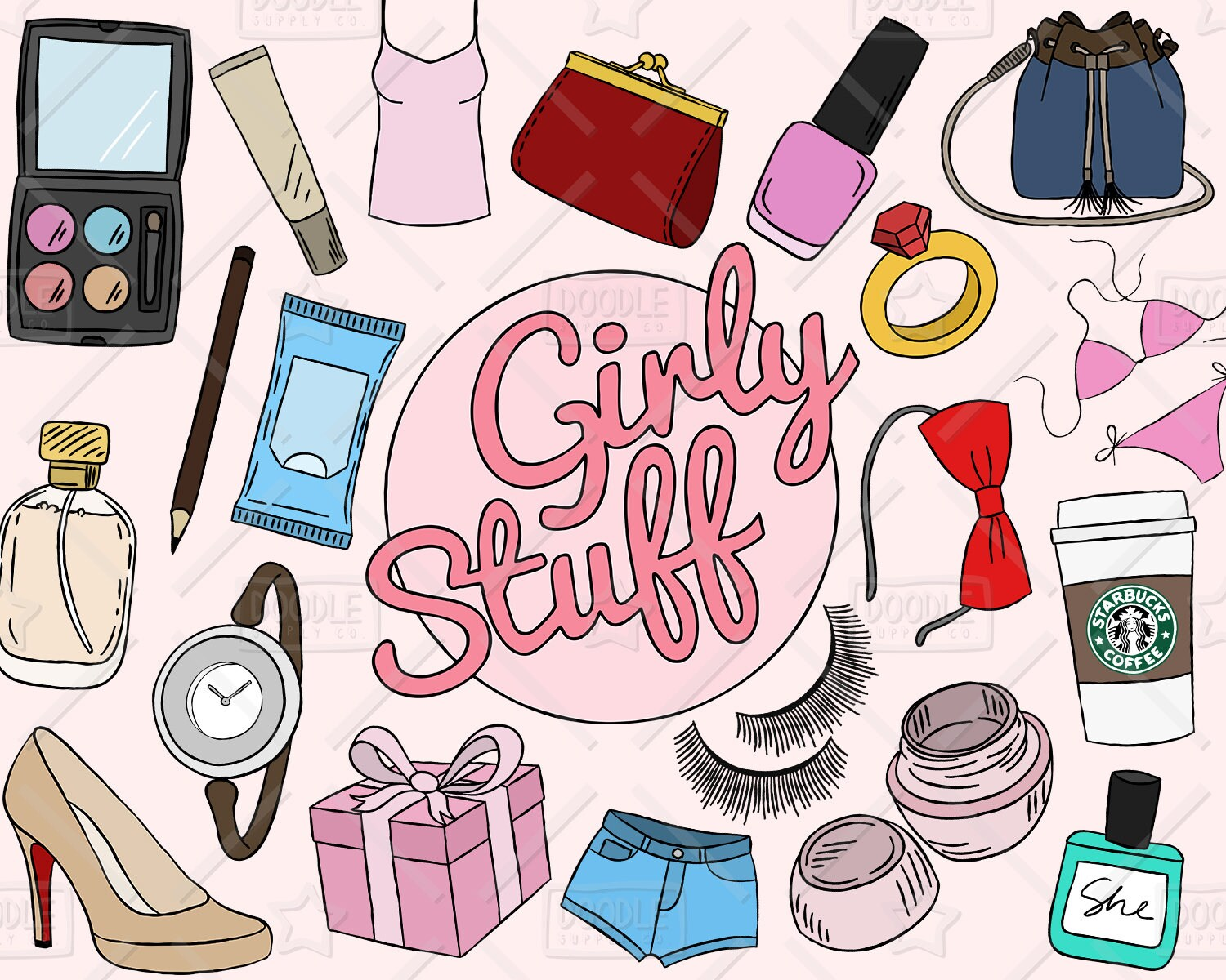 Girls Wallpapers Pack 2018 Files Girly Stuff Clipart Vector Pack Girly Things Girly Clipart