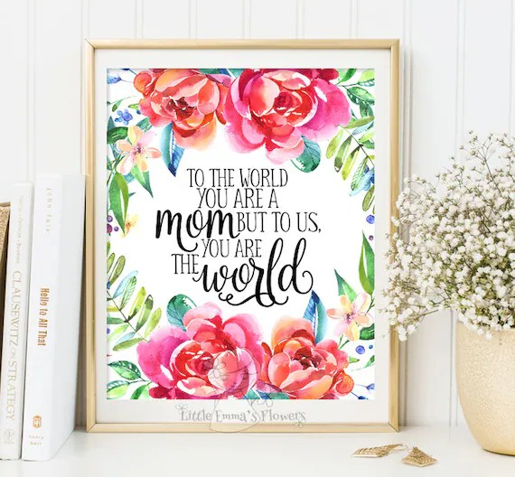 Mothers Day Gift Print Wall Art Decor Gift For Mom Printable