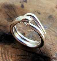 Man promise ring. Male ring. Sterling silver rings. knot ring.