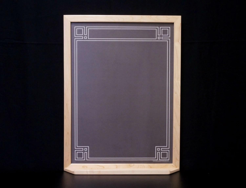 Custom Black Framed Art Deco Chalkboard Dry Erase Board