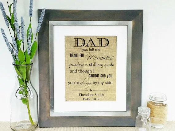 Loss Of Father In Memory Of Dad Sympathy Gifts Death Of