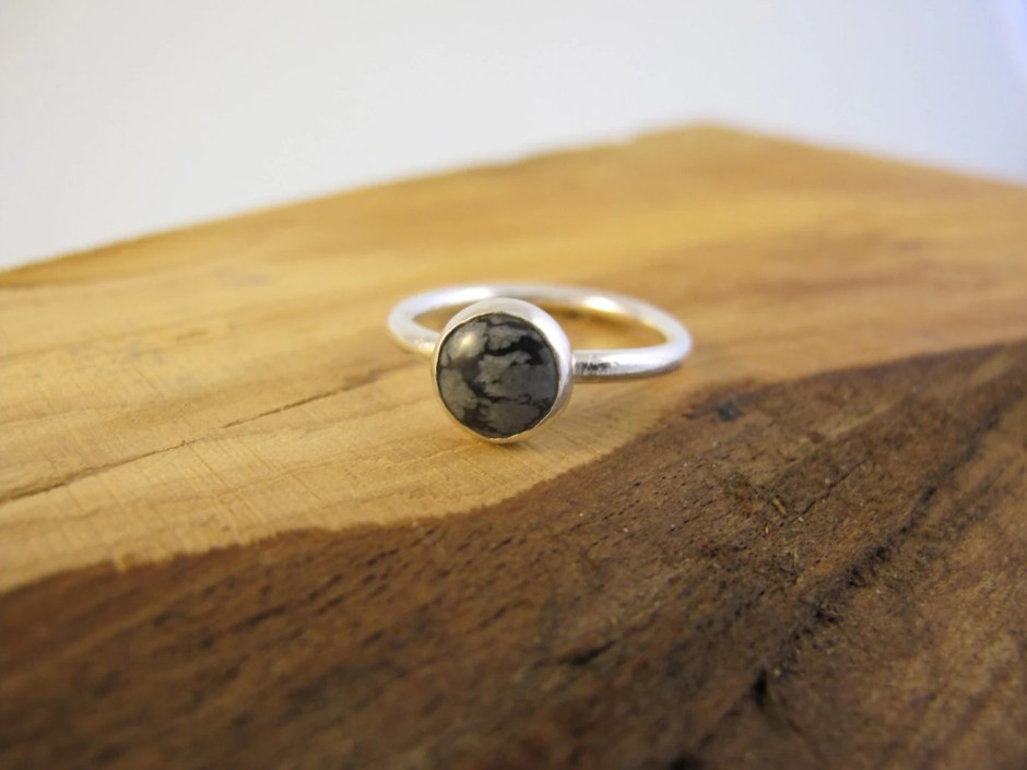 Sterling silver ring with...