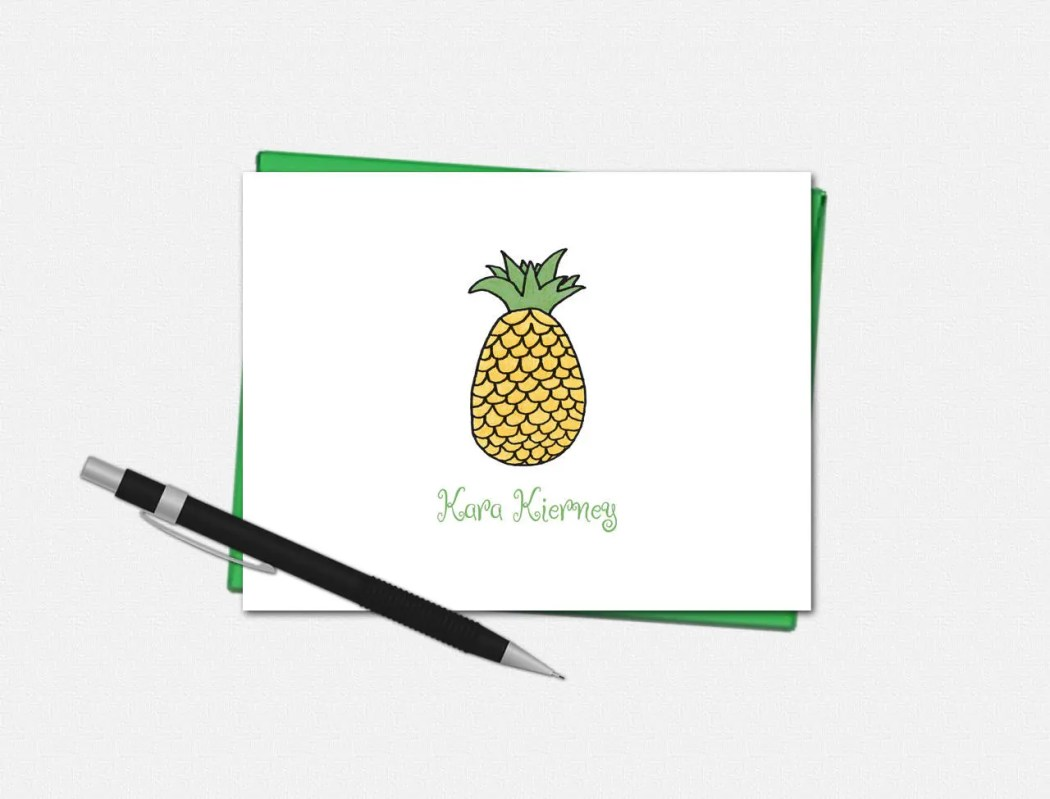 Personalized Pineapple No...