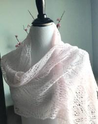 Pink lace shawl merino lace shawl light pink lace spring