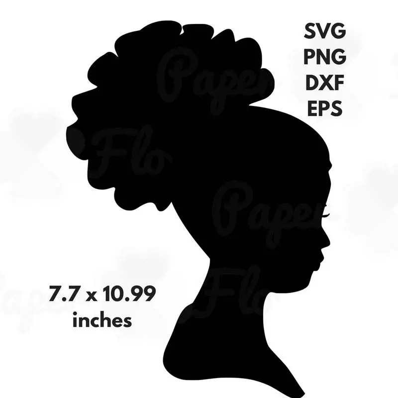 african woman silhouette svg clip