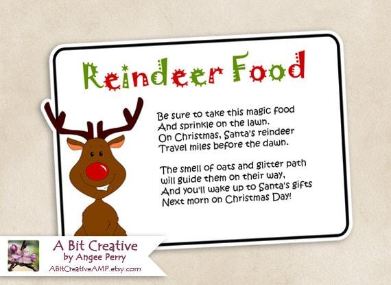 reindeer food template