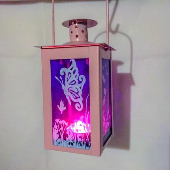 Butterfly handpainted Lantern