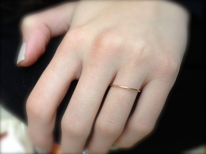 Dainty Wedding Band Simple Ring Thin
