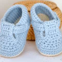 Crochet Baby Booties Diagram Spark Plug Wiring Pattern Shoes Classic T Bar For