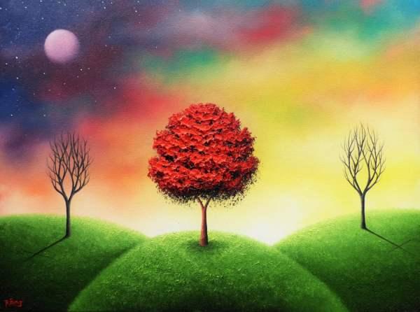 Art Print Of Surreal Landscape Painting Dreamscape Cross