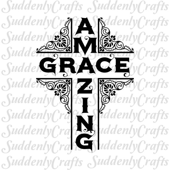 Amazing Grace Cross SVG
