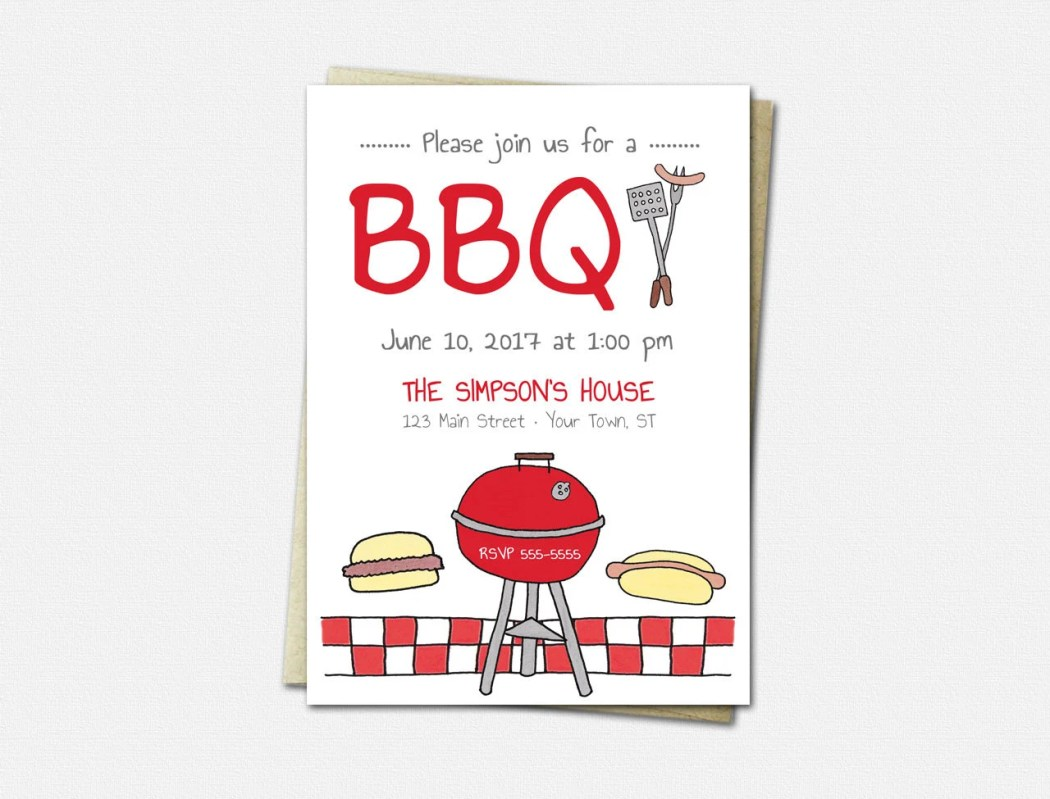 BBQ Invitations - Cookout...