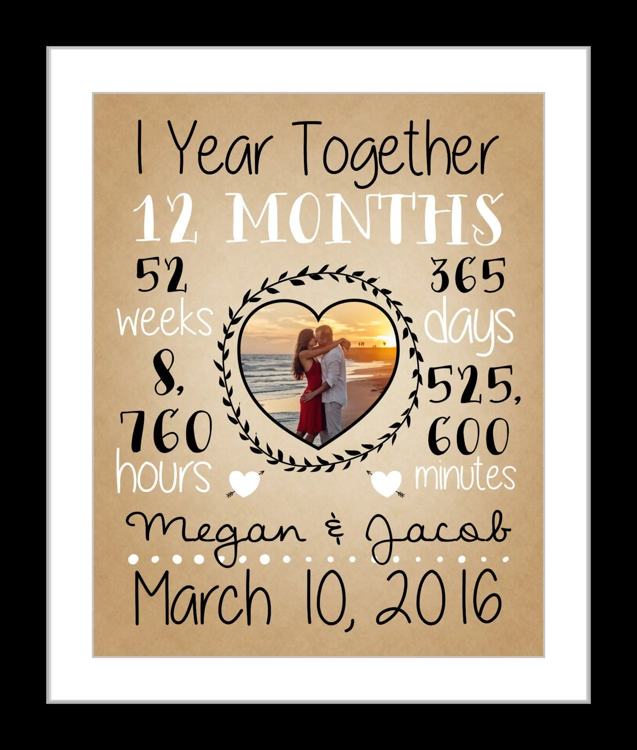 First Anniversary Gift Together 1 Year Anniversary Gift For