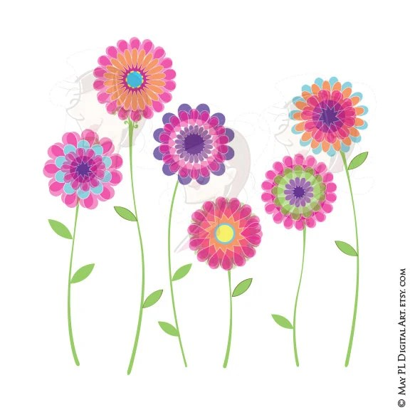pink flower clipart spring flowers