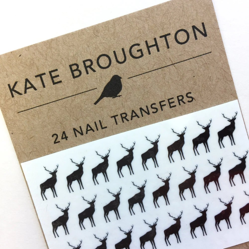 deer nail transfers illustrated