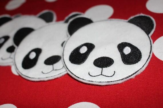 4x4 hoop COASTER - PANDA - Machine Embroidery Design File, digital download