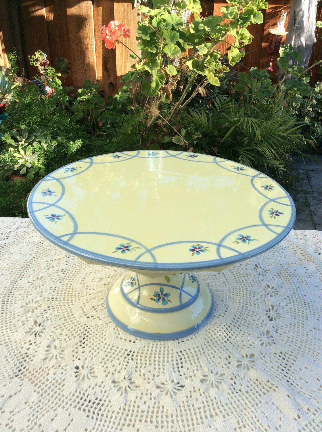 14 Capriware Cake Stand Pedestal Cake Plate Stand