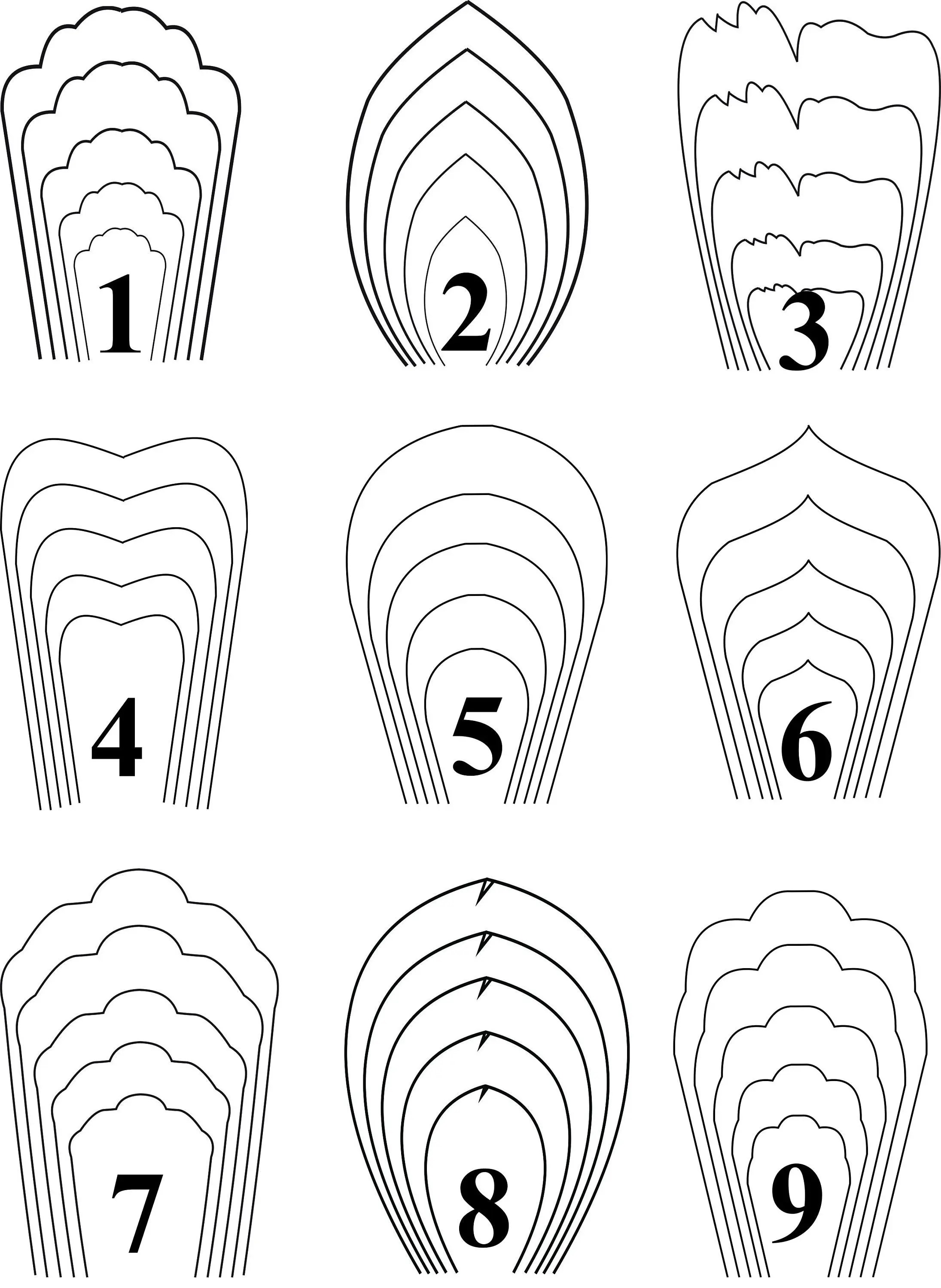 ALL18PDF Templates .Giant Paper Flower Template. Flower