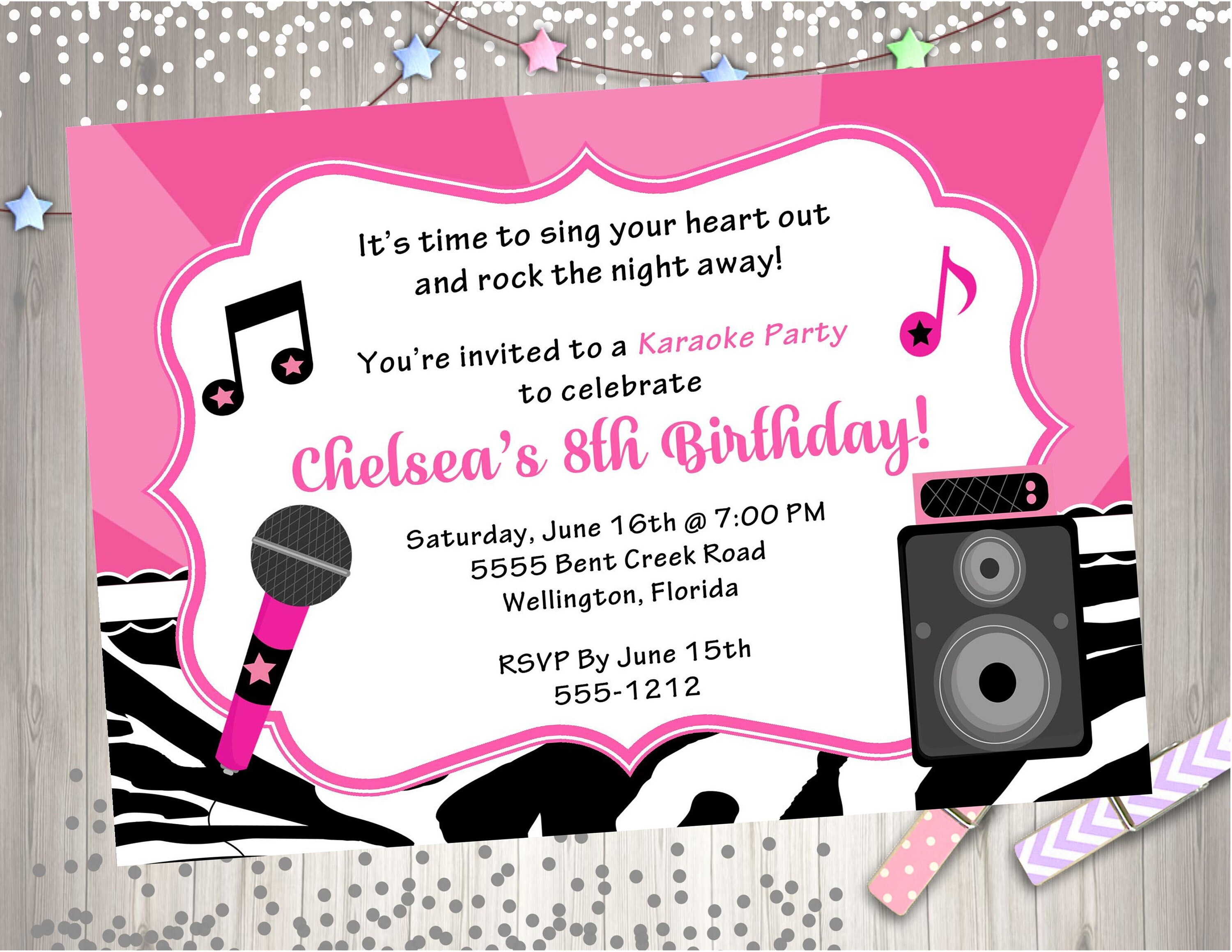 Printable Karaoke Invitations