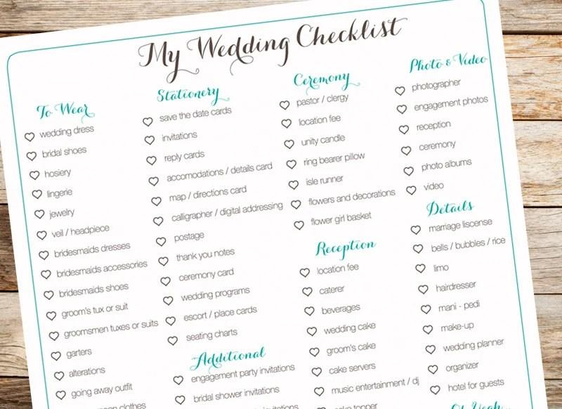 Items Similar To Digital Wedding Checklist, Organization